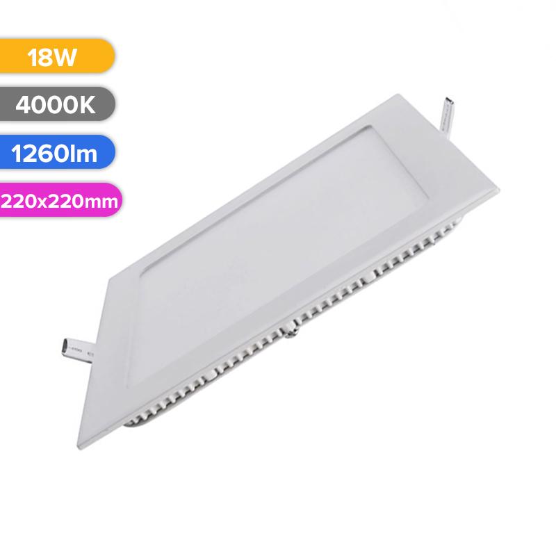 SPOT LED SLIM 18W 1260LM 740 4000K 220X220MM FUCIDA