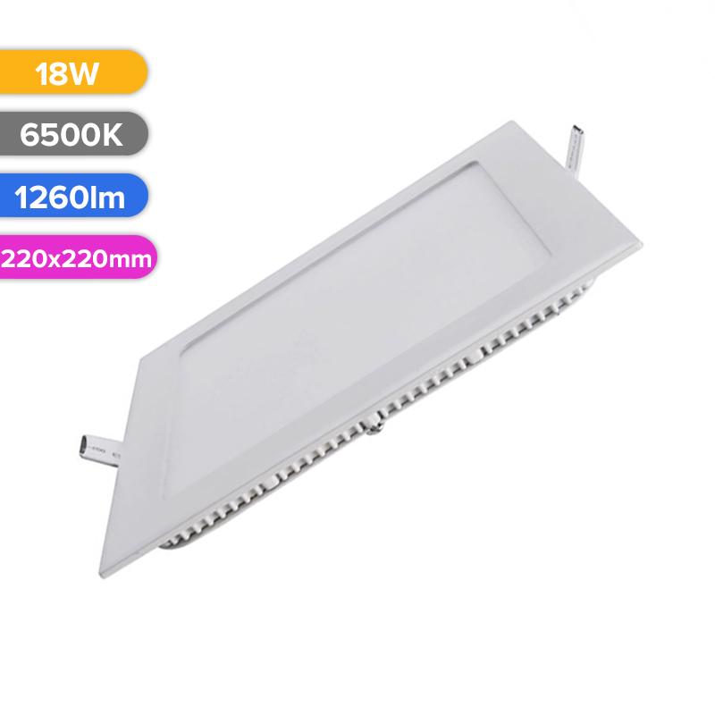 SPOT LED SLIM 18W 1260LM 765 6500K 220X220MM FUCIDA