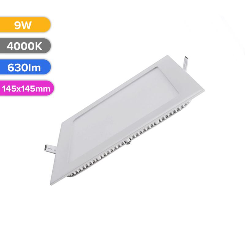 SPOT LED SLIM 9W 630LM 740 4000K 145X145MM FUCIDA