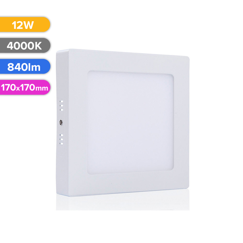 SPOT LED EXT. 12W 840LM 740 4000K 170X170MM FUCIDA
