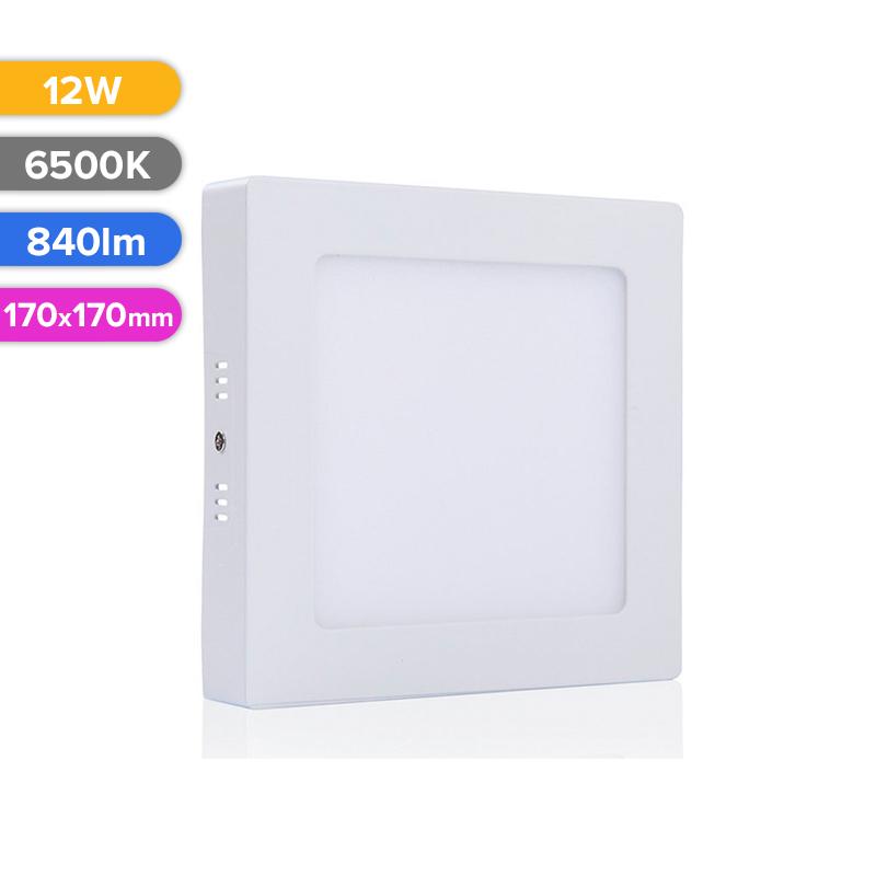 SPOT LED EXT. 12W 840LM 765 6500K 170X170MM FUCIDA