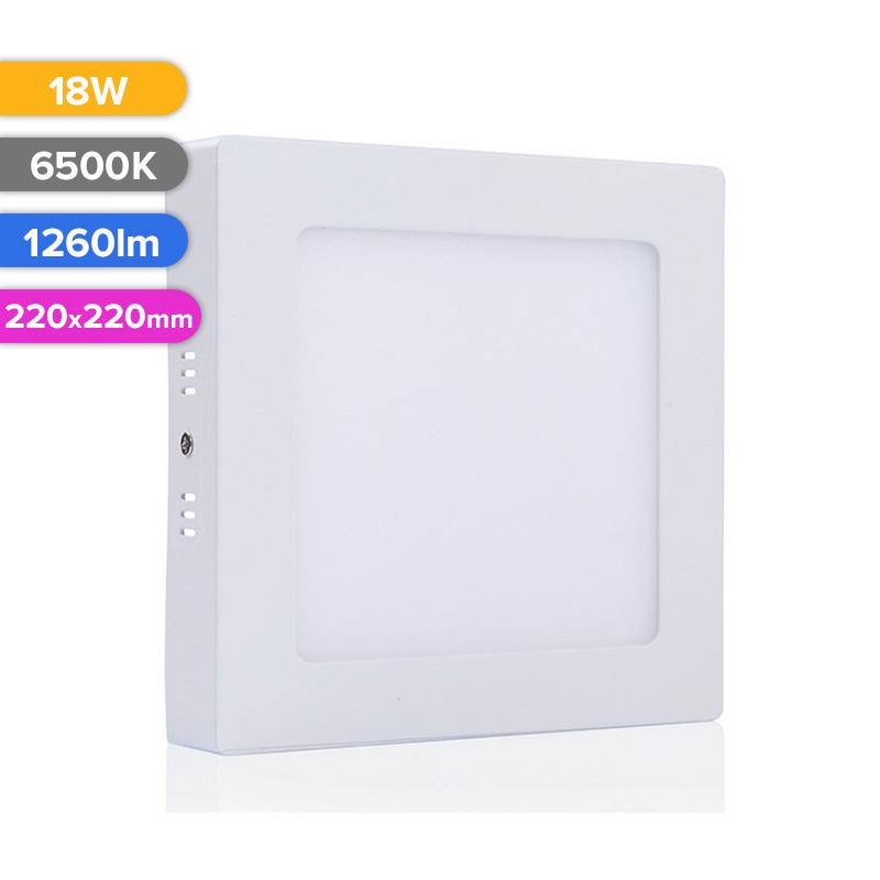 SPOT LED EXT. 18W 1260LM 765 6500K 220X220MM FUCIDA
