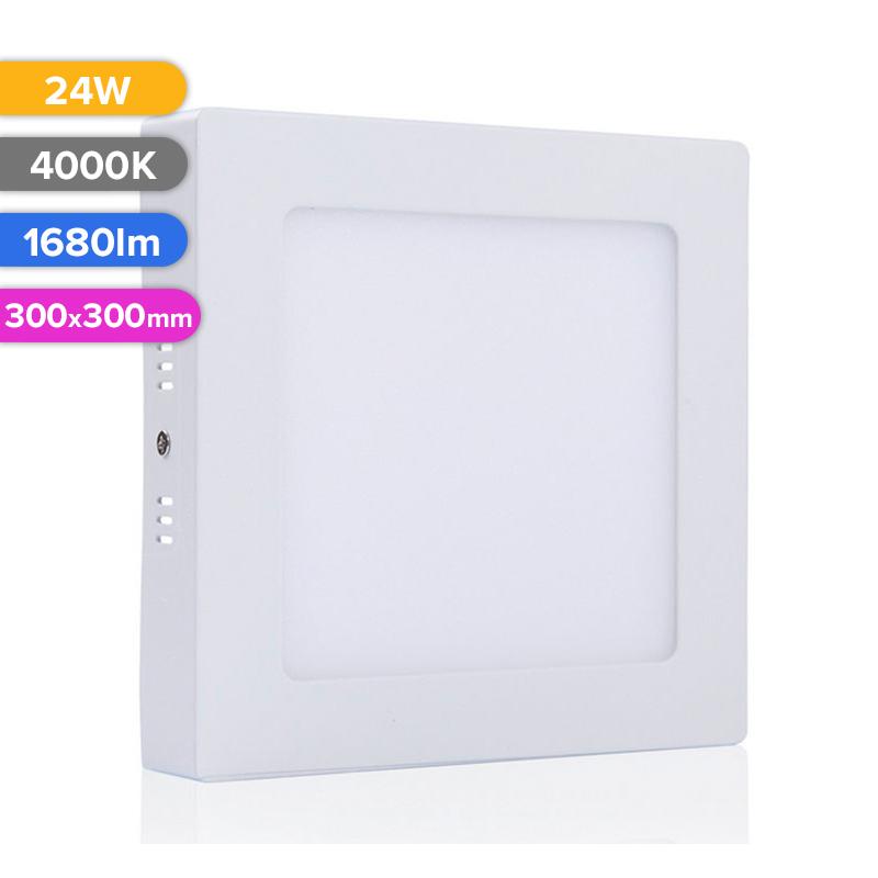SPOT LED EXT. 24W 1680LM 740 4000K 300X300MM FUCIDA