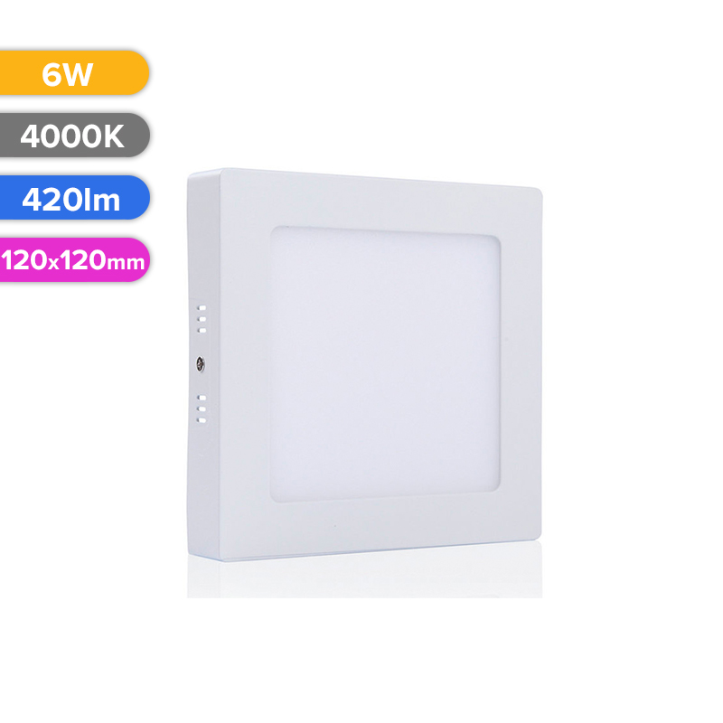SPOT LED EXT. 6W 420LM 740 4000K 120X120MM FUCIDA