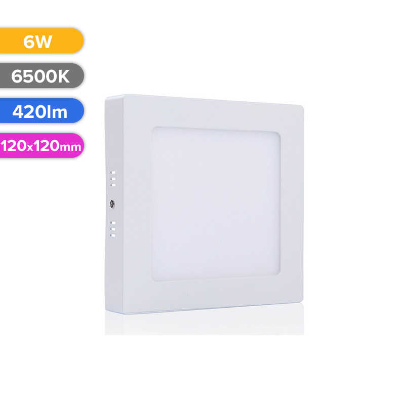 SPOT LED EXT. 6W 420LM 765 6500K 120X120MM FUCIDA