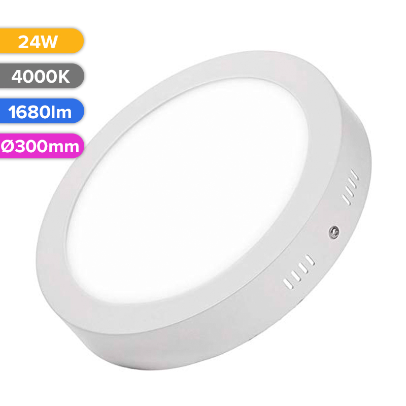 SPOT LED EXT. 24W 1680LM 740 4000K D300MM FUCIDA