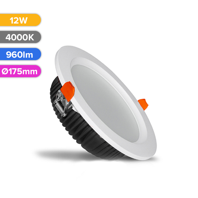 SPOT LED PROF 12W 960LM 840 4000K D175MM FUCIDA