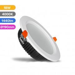 SPOT LED PROF 18W 1440LM 840 4000K D190MM FUCIDA