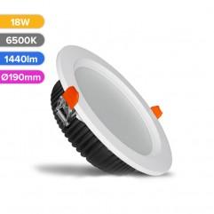 SPOT LED PROF 18W 1440LM 865 6500K D190MM FUCIDA