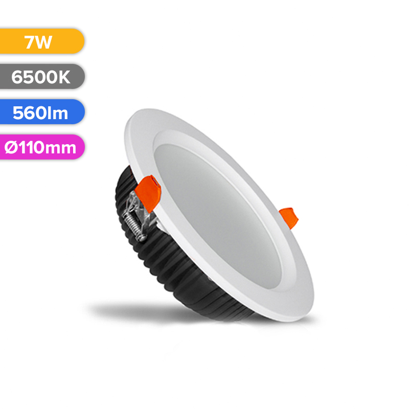 SPOT LED PROF 7W 560LM 865 6500K D110MM FUCIDA