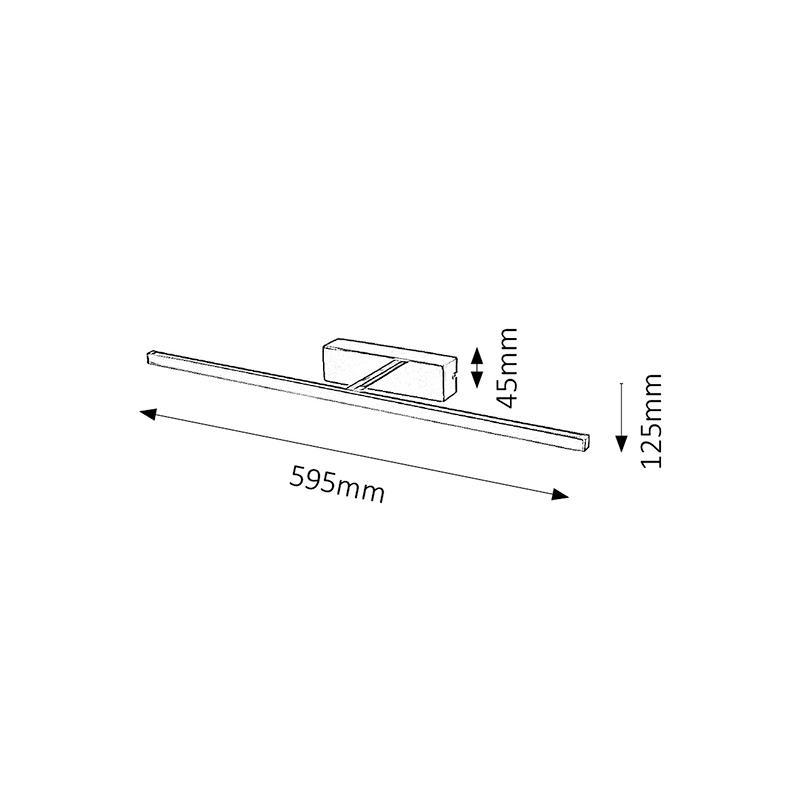 APLICA PICTURE SLIM LED 12W 220-240V 125X595MM INOX RABALUX