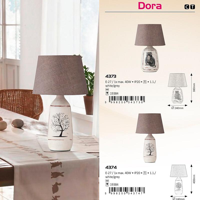 LAMPA DE MASA DORA E27 MAX. 40W 240X400MM TEXTIL RABALUX