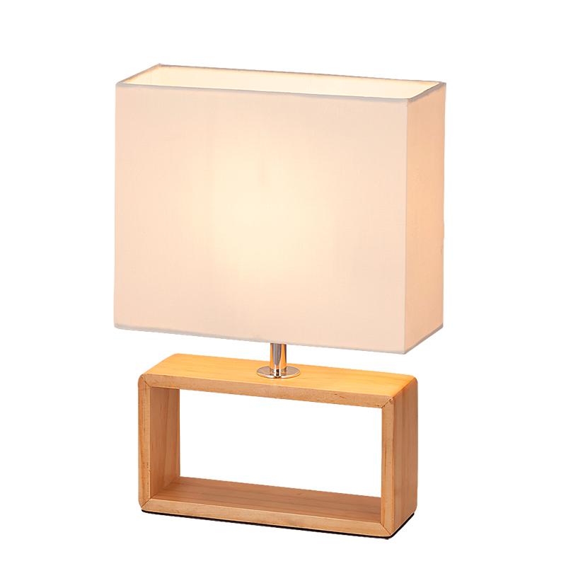 LAMPA DE MASA FREYA E14 MAX. 25W 210X300MM LEMN/TEXTIL RABALUX