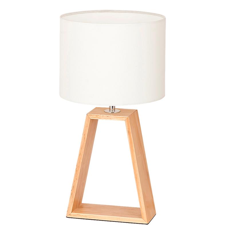 LAMPA DE MASA FREYA E14 MAX. 40W 200X380MM LEMN/TEXTIL RABALUX