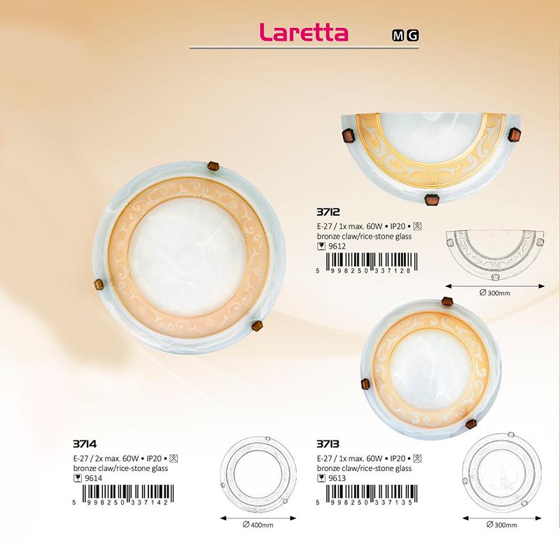 APLICA TAVAN LARETTA E27 2XMAX. 60W D400MM ALB/GOLD RABALUX
