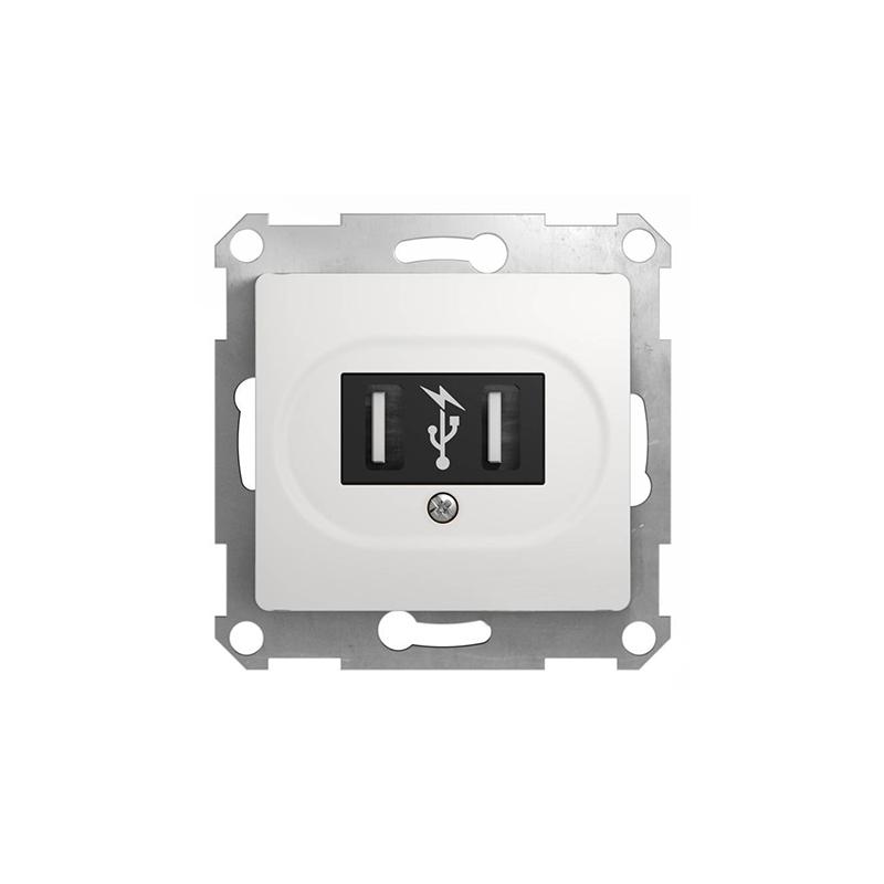 PRIZA USB 2X5V/700mAh ALBA GLOSSA SCHNEIDER