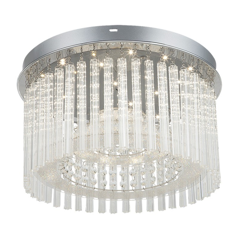 LUSTRA DANIELLE LED 18W 220-240V D370MM STICLA/MET...