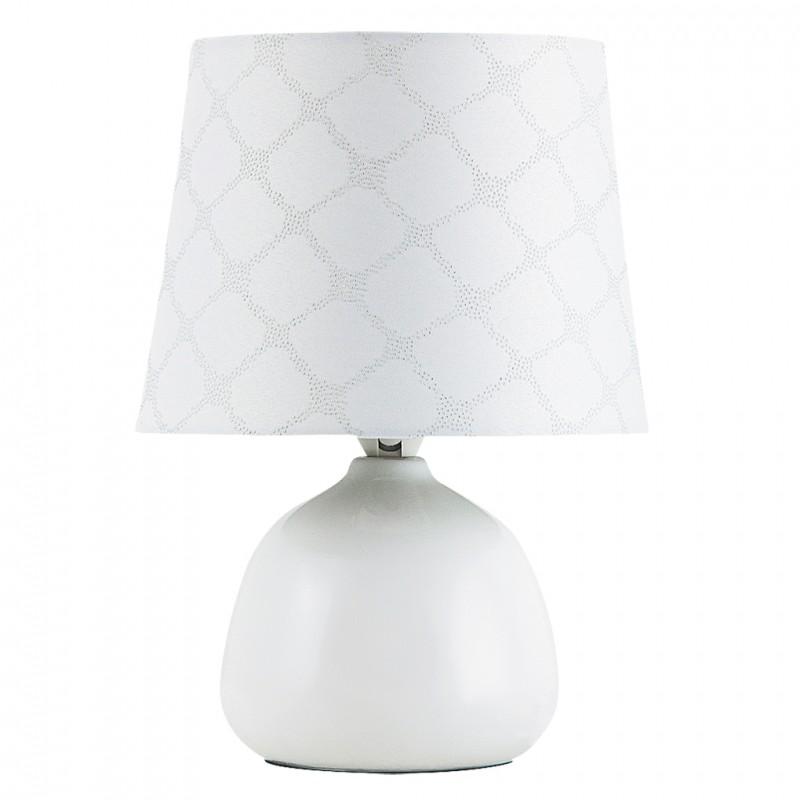 LAMPA DE MASA ELIE E14 MAX. 40W 180X260MM CERAMICA/TEXTIL ALBĂ RABALUX