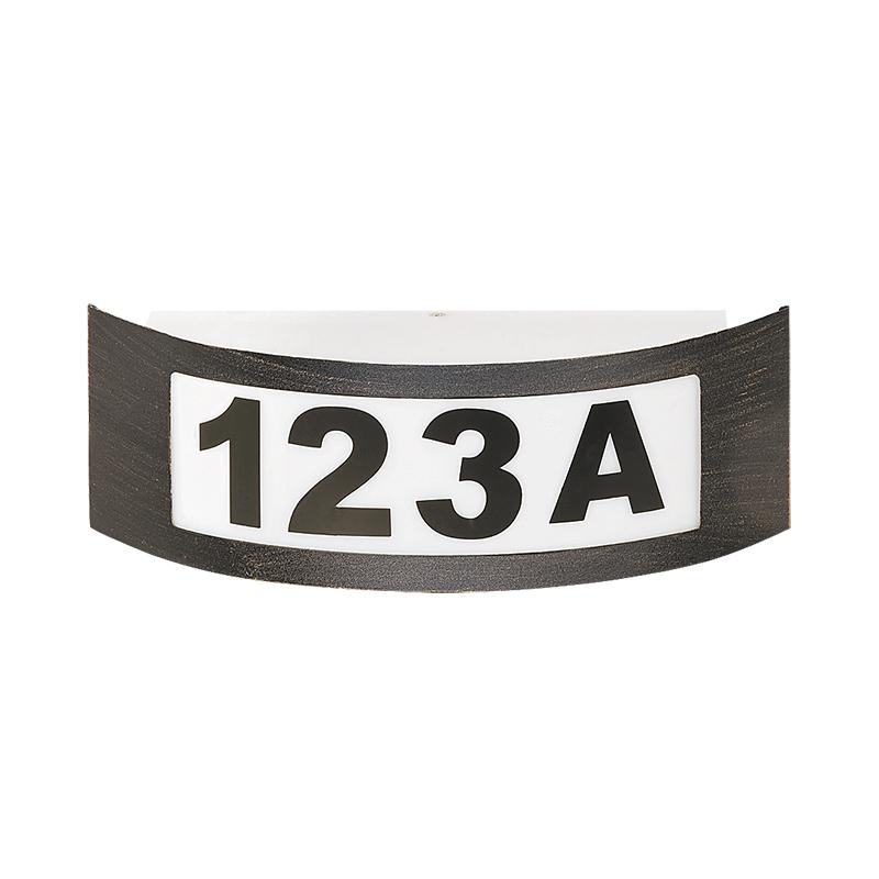 APLICA DE GRĂDINĂ INNSBRUCK E27 MAX. 40W 318X100MM CU NUMERE BRONZE ANTIC RABALUX