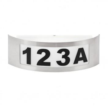 APLICA DE GRĂDINĂ INNSBRUCK E27 MAX. 40W 220-240V IP44 318X100MM CU NUMERE INOX RABALUX